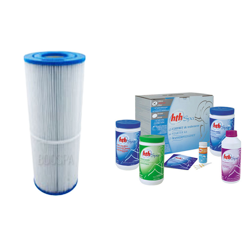 HTH Spa Bromine + Filter Treatment Pack