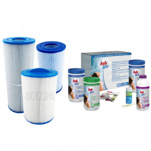 HTH Spa Active oxygen + Filter Treatment Pack
