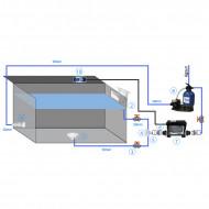 Kit filtration avec filtre à sable + système BP2100