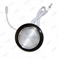 Projecteur LED Inox 12.5cm avec sortie LED RGB