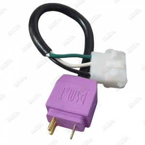 CORD ADAPTER. VIOLET MINI JJ TO 4 PIN AMP