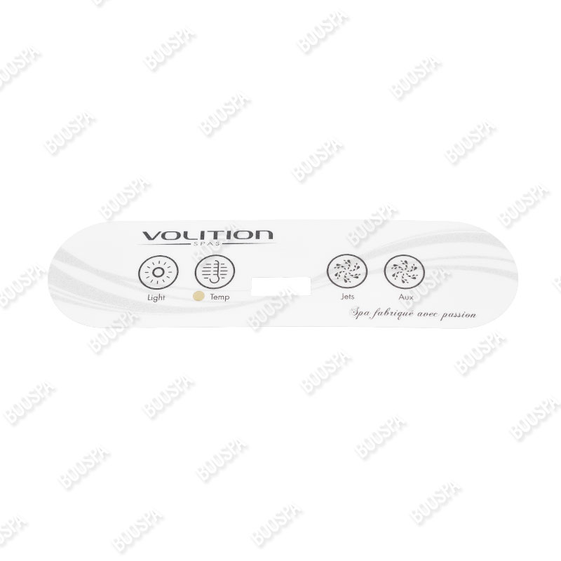 Type 2 Overlay for Volition® spa control panel
