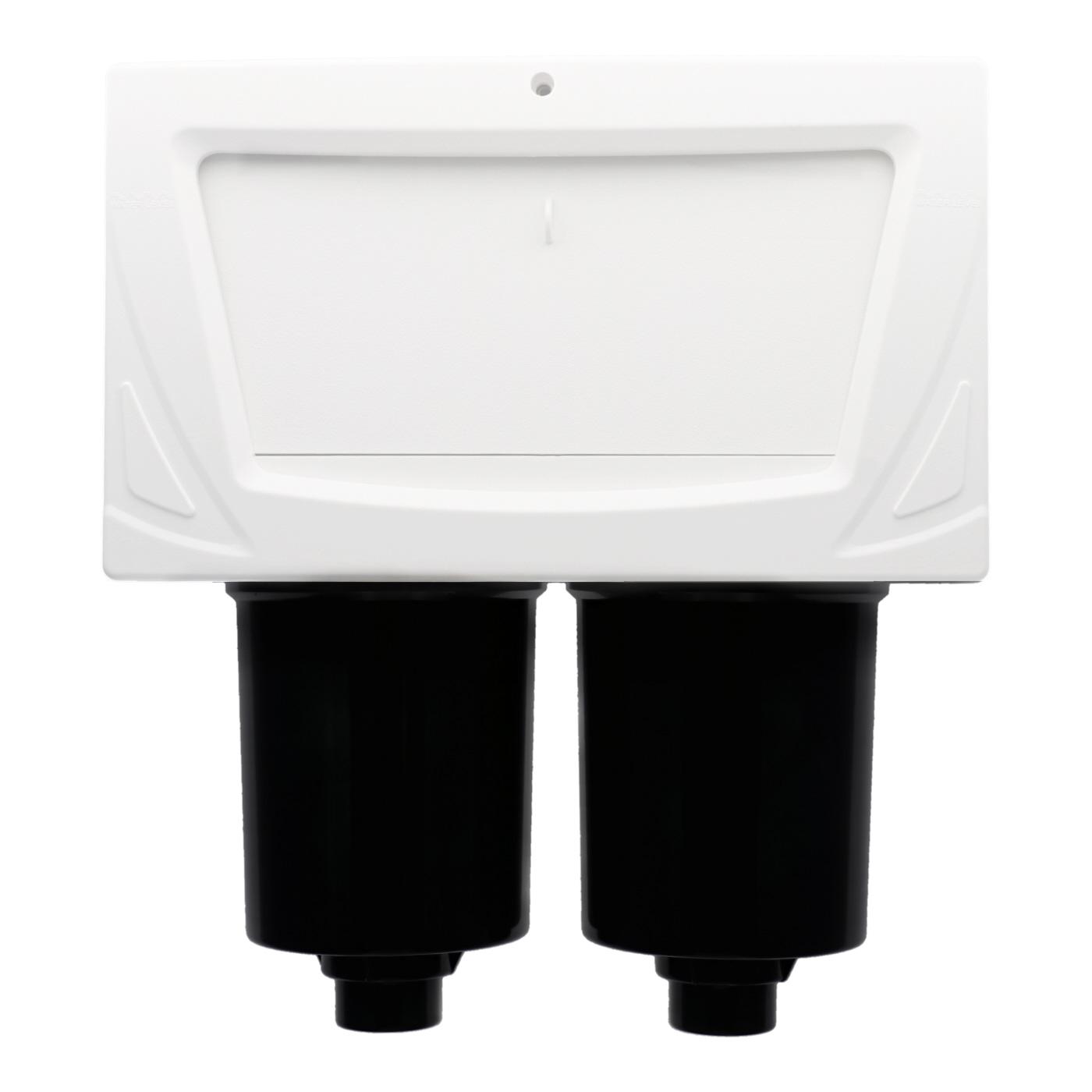 Skimmer double filtre pour tuyaux 1.5 pouces