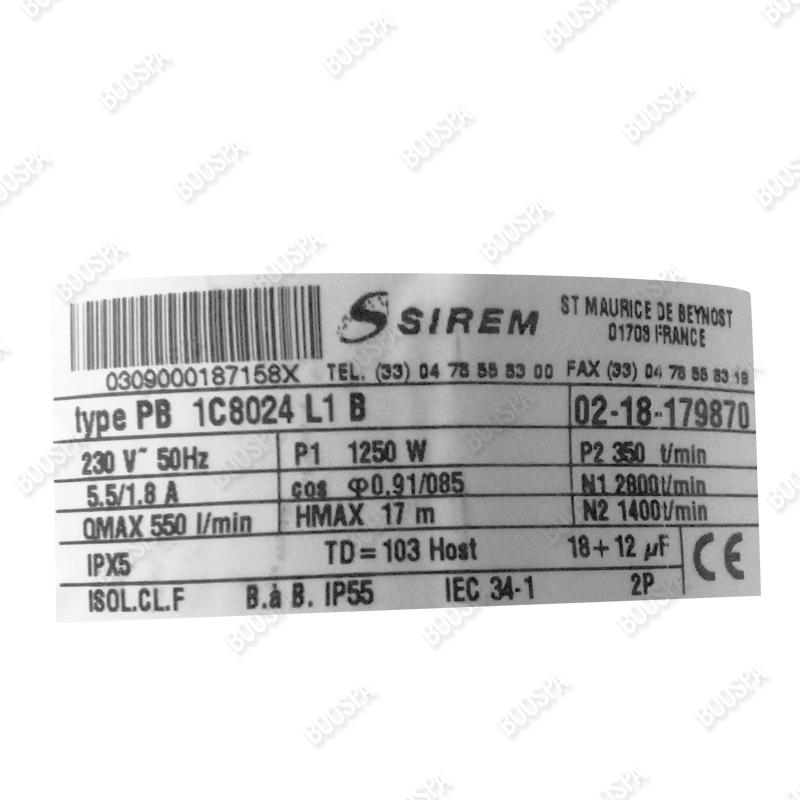 Pompe de massage Sirem PB1C8024L1B