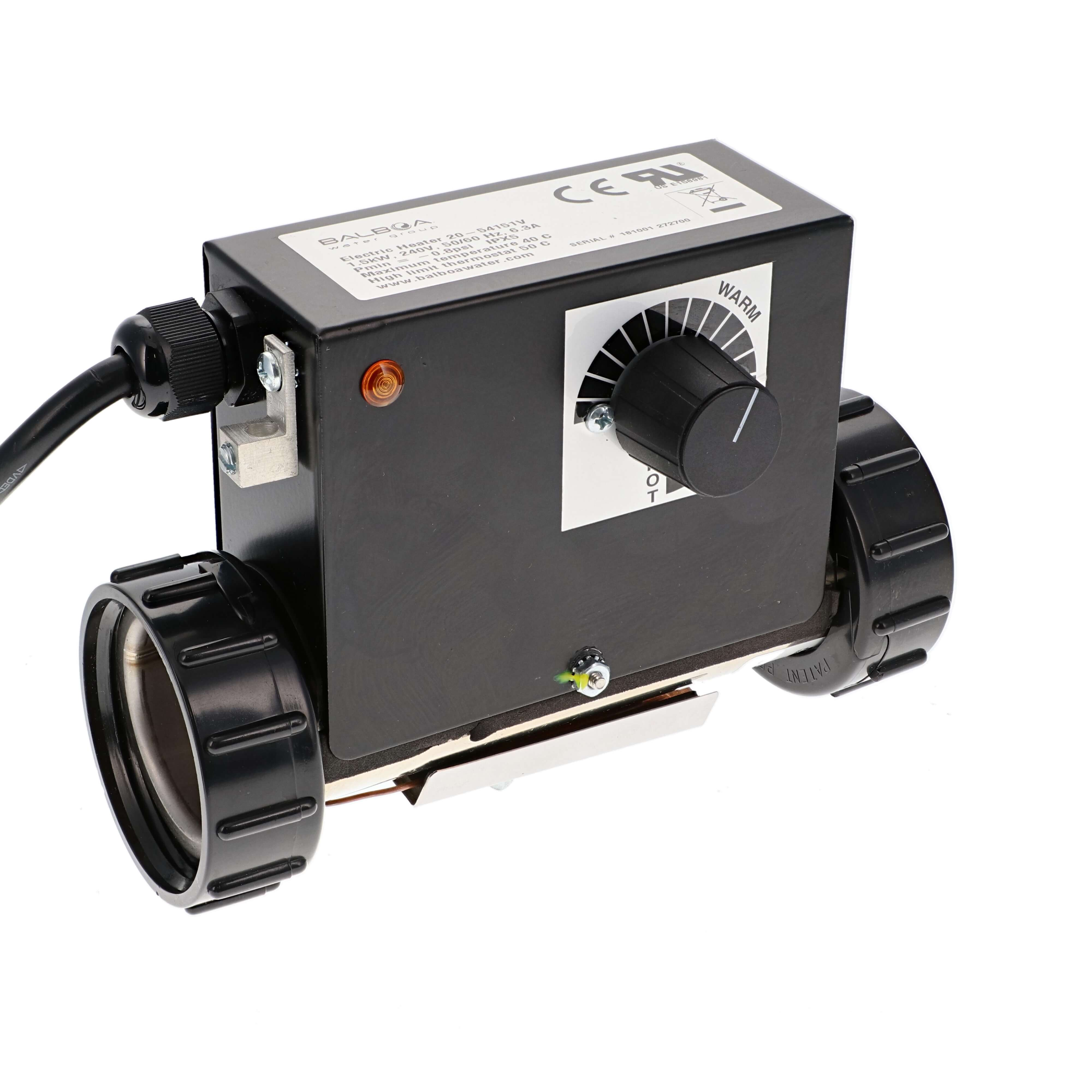 Balboa electrical heater with thermostat