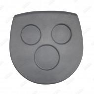 Grey Glass holder EVA Crystal for spa