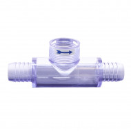 """Straight tee with 2 ribbed ports 3/4"""" M for flow switch Q12DS-C2"""