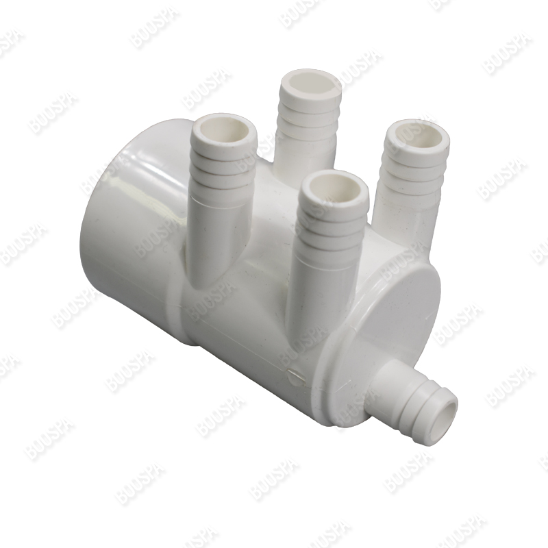 2'' F Manifold - 5 outlets 3/4'' ribbed ports
