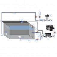 Kit filtration avec filtre à cartouche + système BP2100