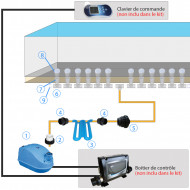 Kit blower 12 buses pour spa béton - Inox