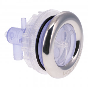 5'' Transparent Twin Roto Jet in ABS/Stainless Steel
