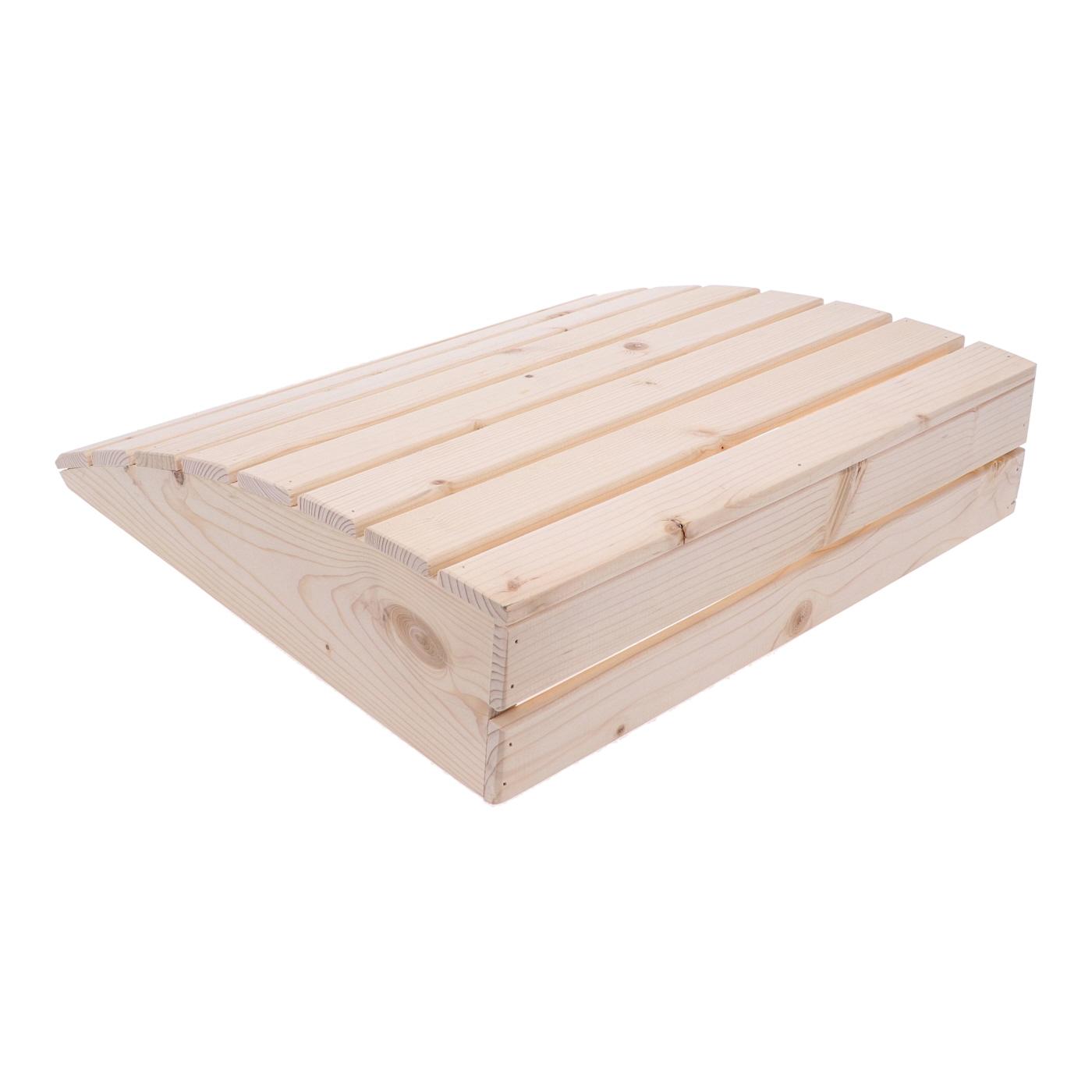 Repose tête en bois pour sauna