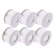 Pack of 6 Filters for MSPA Inflatable Spa - new generation