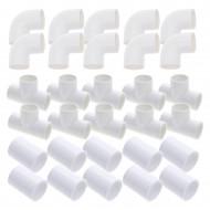 """1.5"""" pipe kit - 30 fittings (10 elbows + 10 tees + 10 sleeves)"""