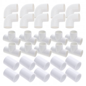 "2"" piping kit - 30 fittings (10 elbows + 10 tees + 10 sleeves)"