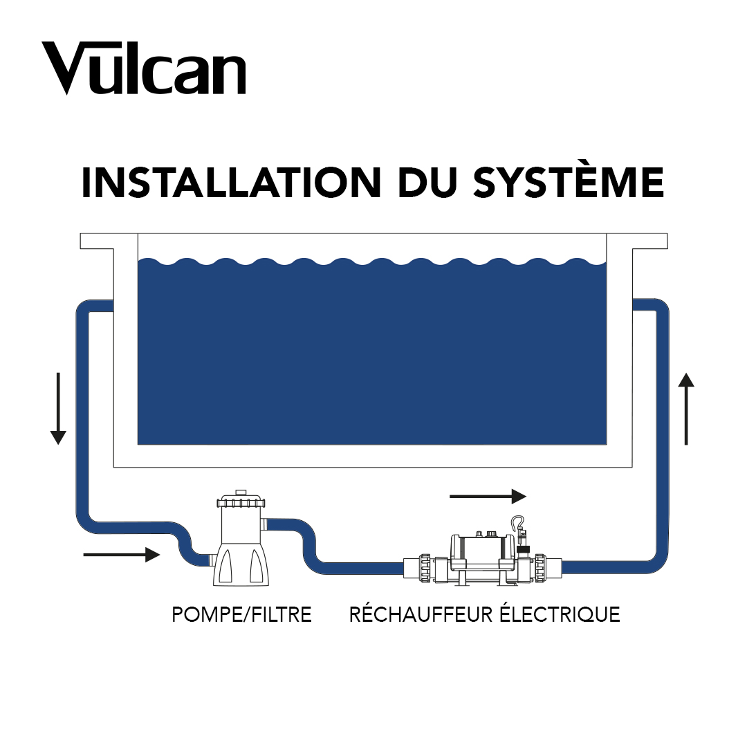 Vulcan Nano 3kW Heater with built-in thermostat