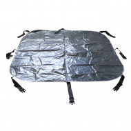 Clip-on cover mat for square inflatable spa