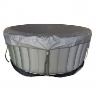 Clip-on cover and universal floor mat spa mspa round - 4 seats