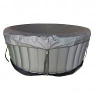 Couverture clipsable + tapis sol pour spa mspa rond 4 places