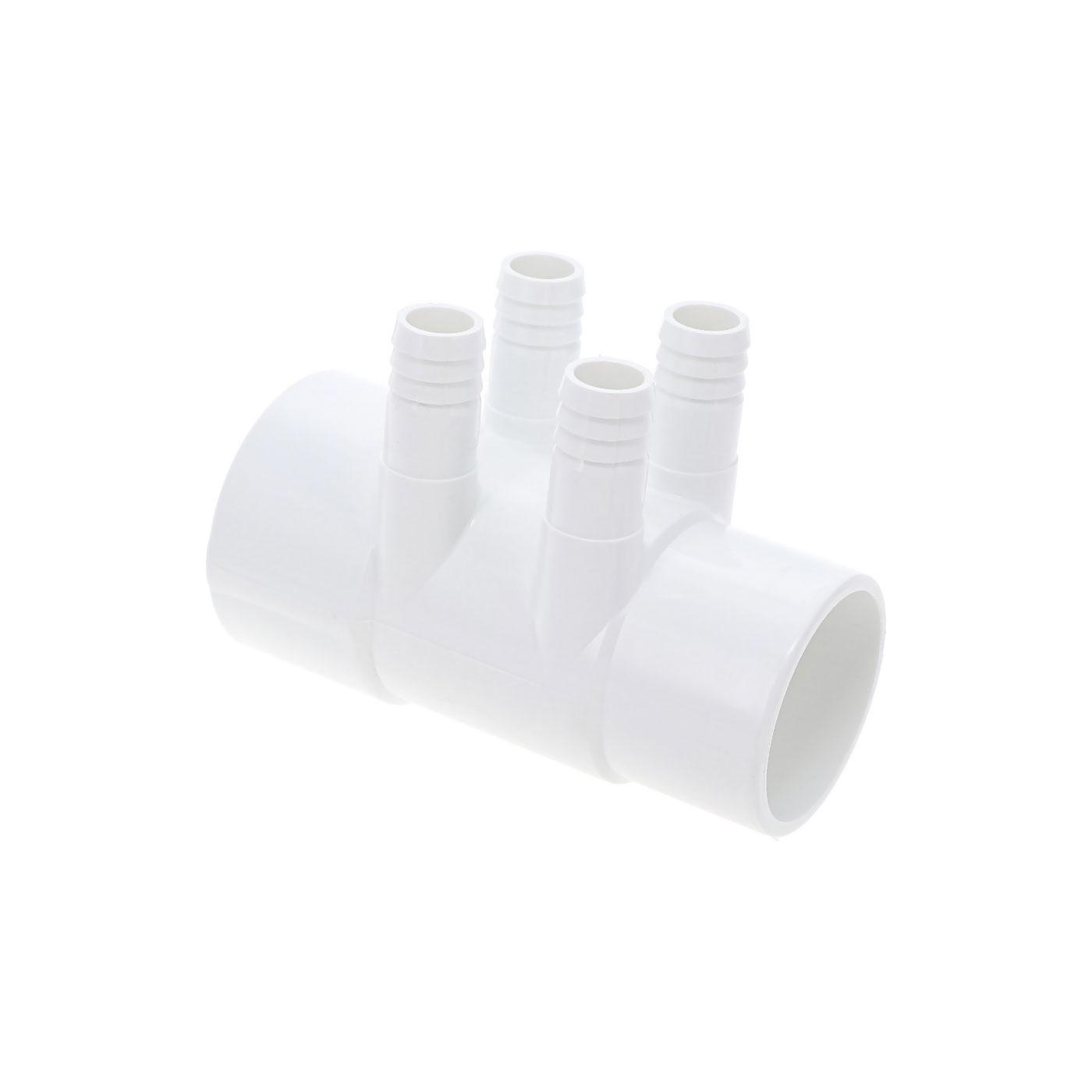 2'' F/M Manifold - 4 ribbed ports 3/4'' M