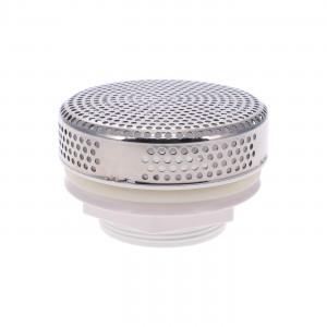 Bonde d'aspiration 5 pouces (125 mm) - INOX/ABS blanc