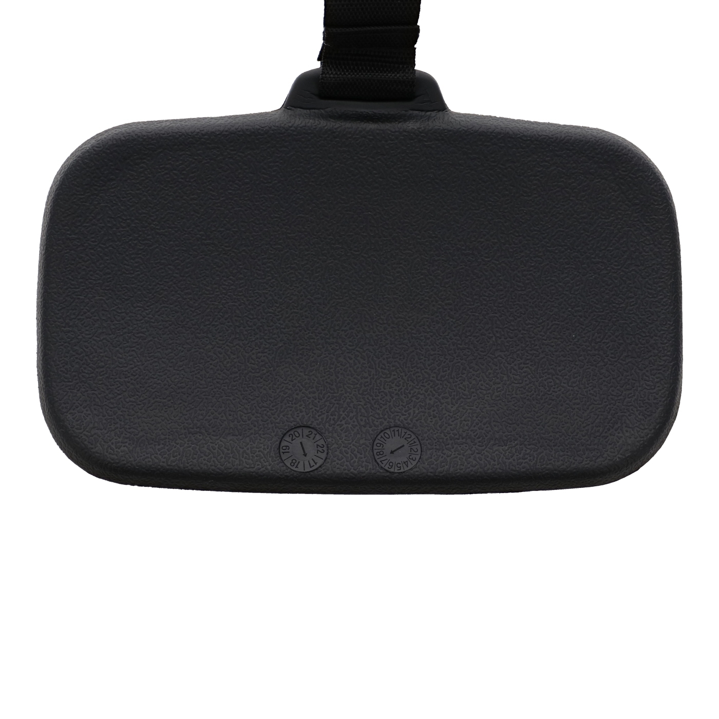 Universal spa headrest with counterweight