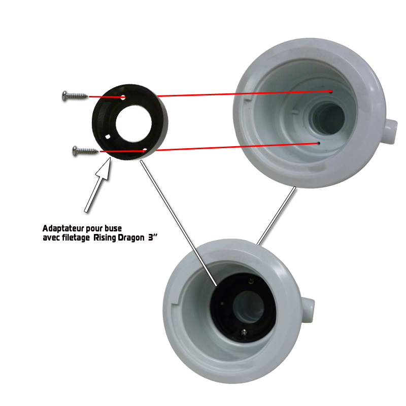 Threaded Adaptor for 3'' and 4'' Jet