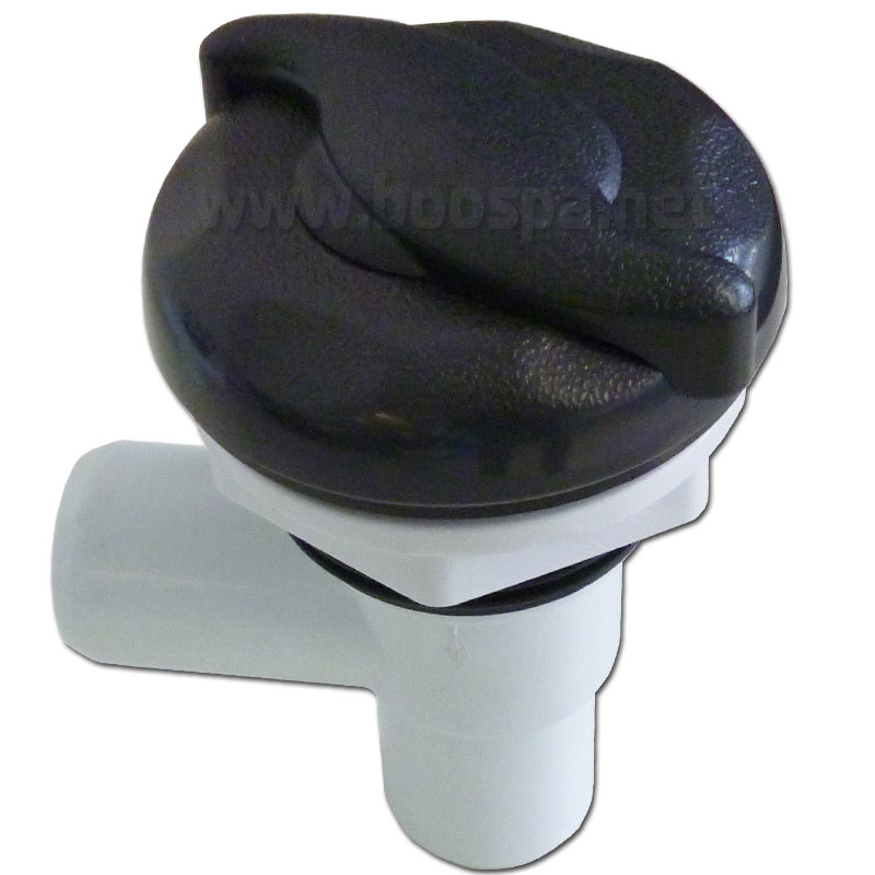 Waterfall Flow-Control Valve 1 Inch Wave Shaped / Black ABS