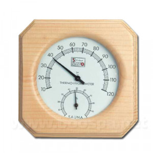 Thermomètre Hygromètre 1 cadran pour sauna