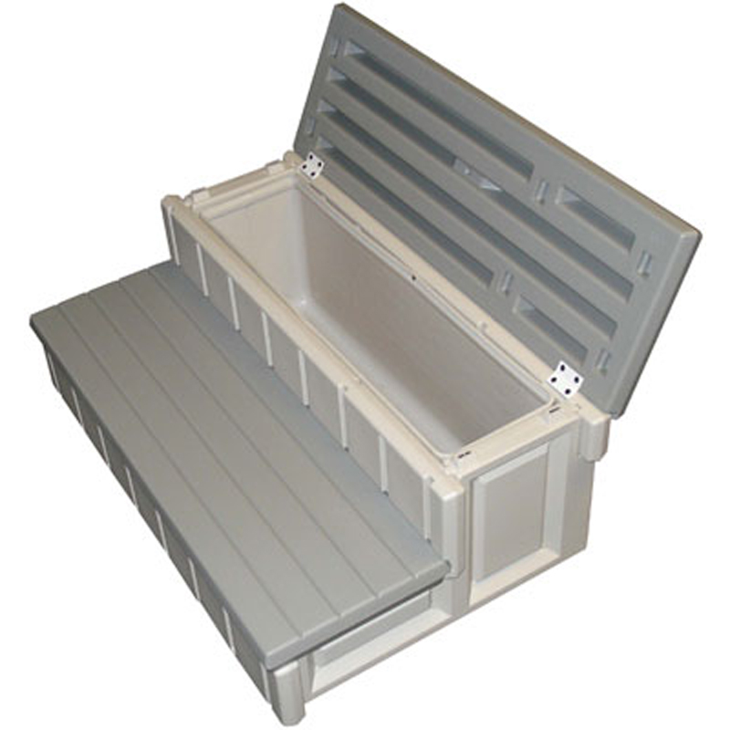 2 Steps Stairs with Storage for Spa