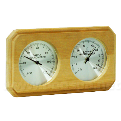 Thermomètre Hygromètre bois pour sauna