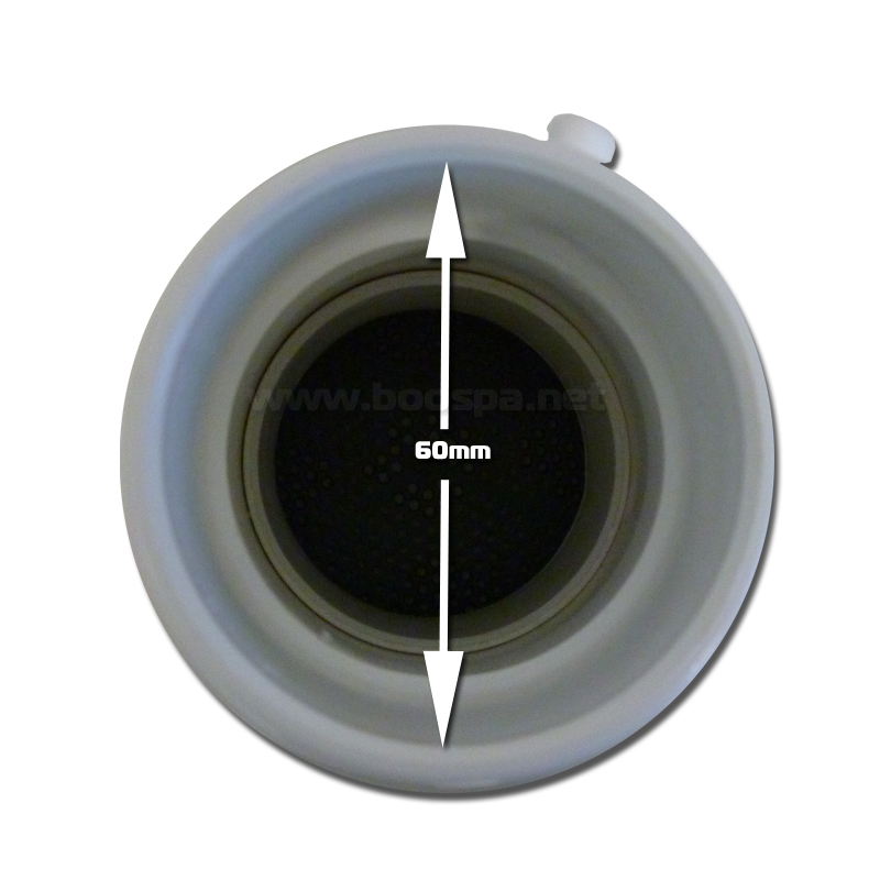 5 Inches Suction Fitting Grey ABS