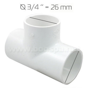 3/4'' PVC Tee for Spa Pipe