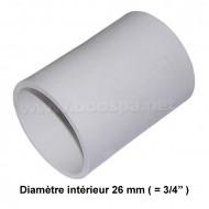 Manchon 3/4'' PVC pour tuyau de spa