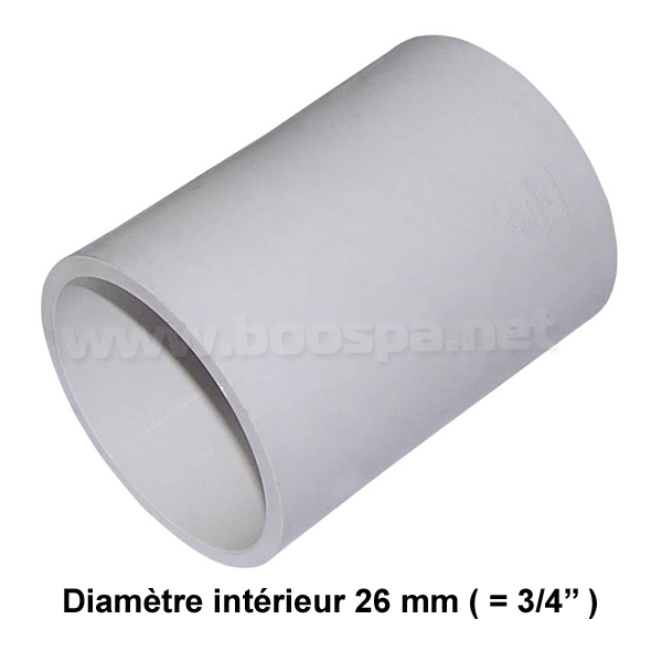 ¾'' PVC Straight Connector