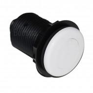 Flat Pneumatic Button White ABS