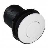 Rounded Pneumatic Button White ABS