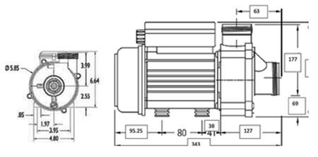 Dimension BALBOA UL 0.25HP 1031025