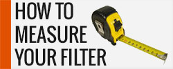 how to measure filter
