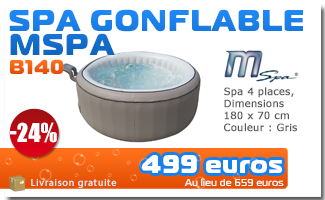 Solde spa gonflable BOOSPA