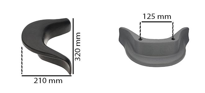 dimensions appui-tête KA114 de remplacement pour spa