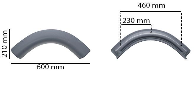 Headrest dimensions for Caldera spas