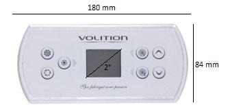 dimensions clavier gecko in.k506 pour spas vue de face