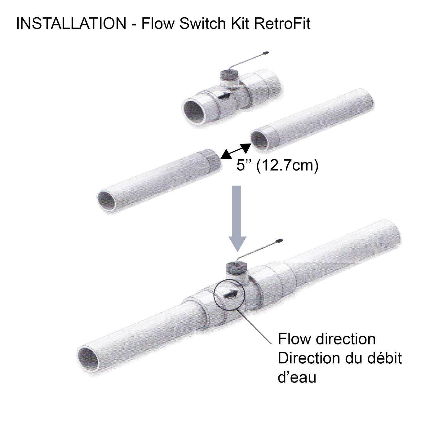 RetroFit flow sensor installation diagram