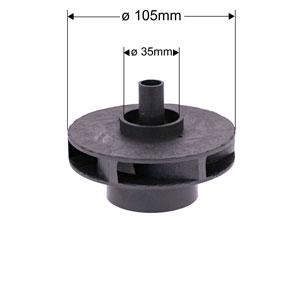 NBHT impeller dimensions hsp1500