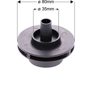 NBHT impeller dimensions wcp250G