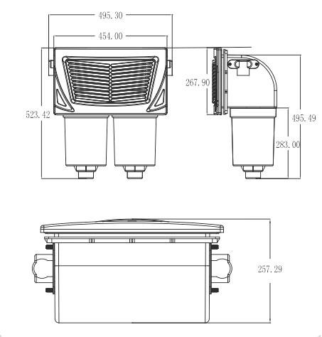 Dimensions du skimmer L-2111 pour spa
