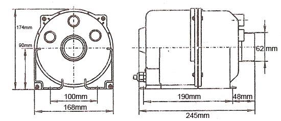 APR dimensions Blower