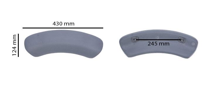 Dimensions de l'appui-tete as0801 pour spa