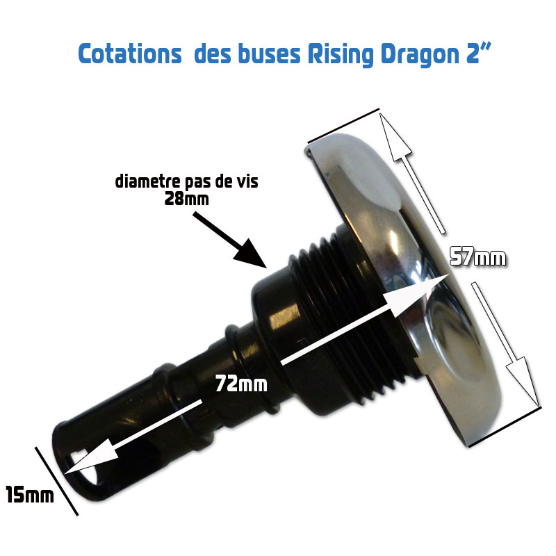 Buses en 2 pouces 52mm rising dragon buses et jets for Jets para jacuzzi